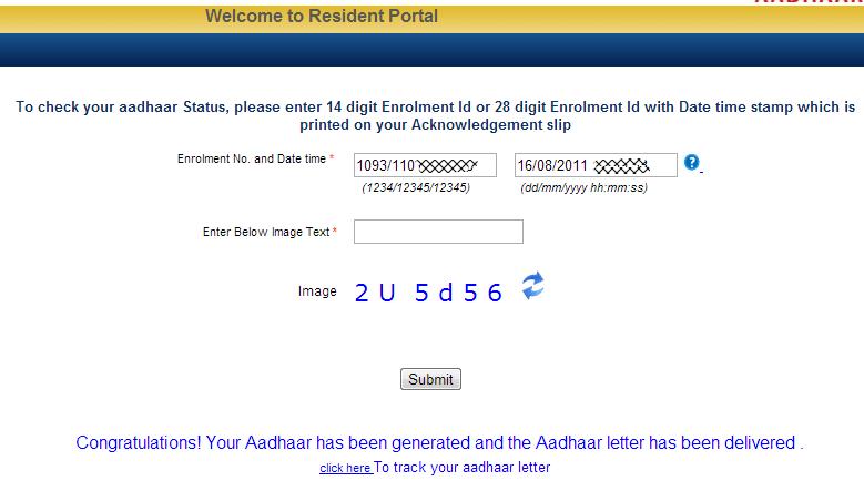 aadhar card tracker