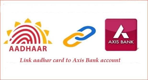 Axis bank Aadhaar card link