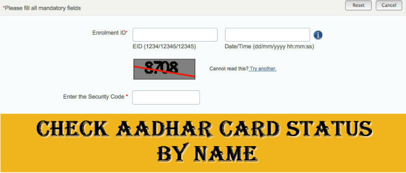 How to find aadhar card status by name | aadhar-uidai.in