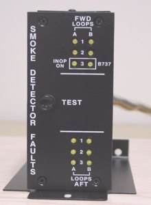 Aircraft Fire Protection System Fault Panel Assembly from Advanced Aircraft Extinguishers, Inc.