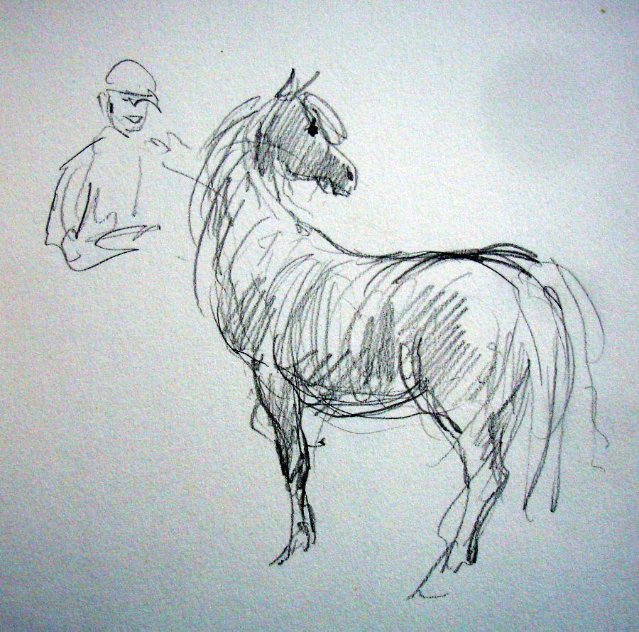 zuidlaardermarkt Horse fair art sketch7
