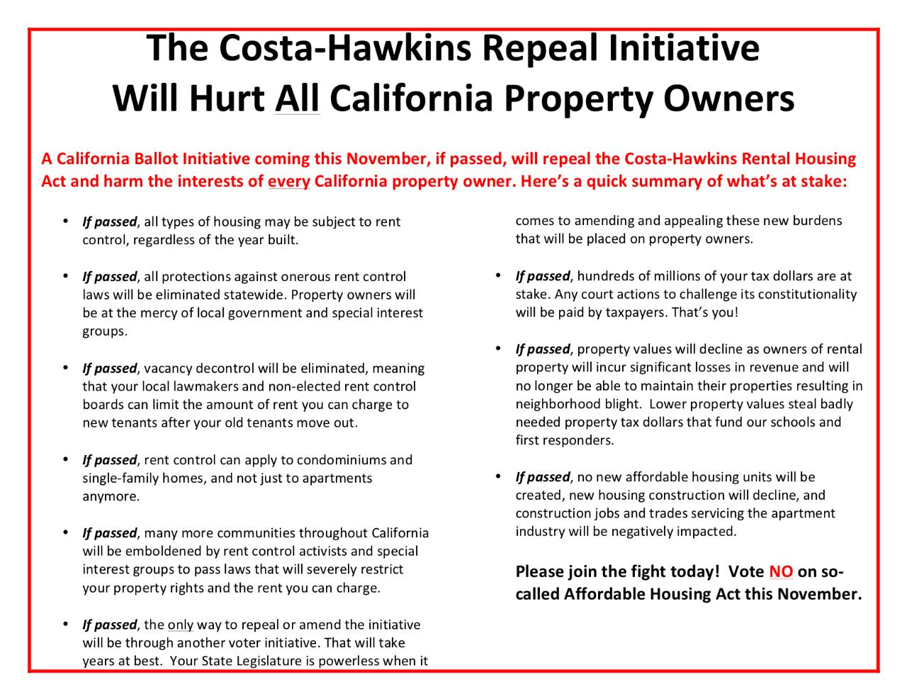 MISSION AAGLA Directly Advocates For The Rental Housing