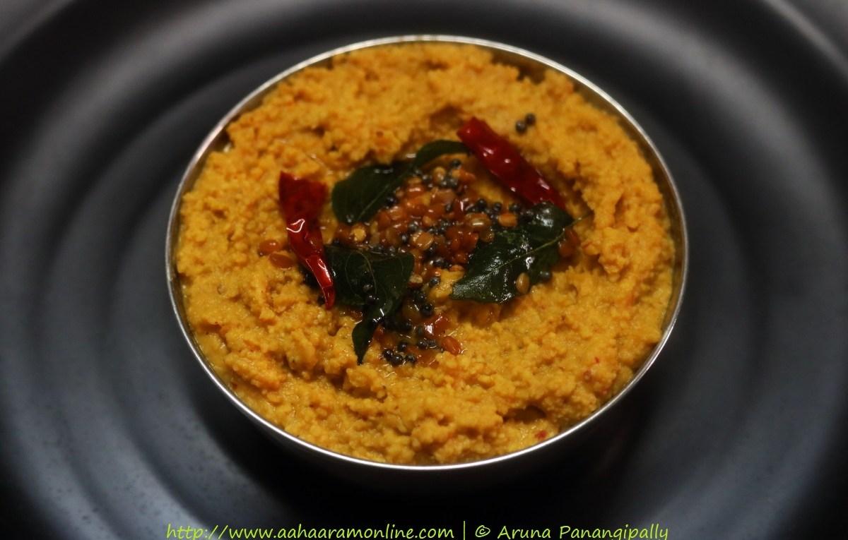 Andhra Kandi Pachadi   Paruppu Thogayal   Andhra Style Tuvar Dal Chutney
