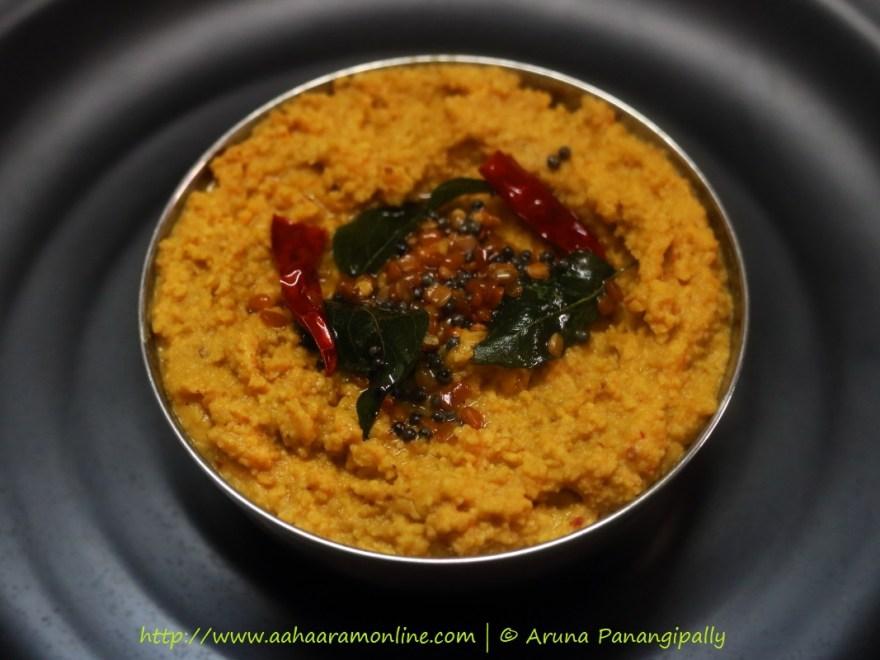 Andhra Kandi Pachadi | Paruppu Thogayal | Andhra Style Tuvar Dal Chutney