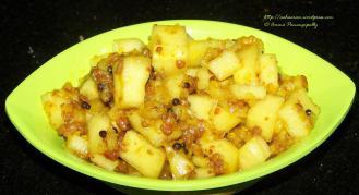 Dosakaya Pachadi or Yellow Cucumber Chutney