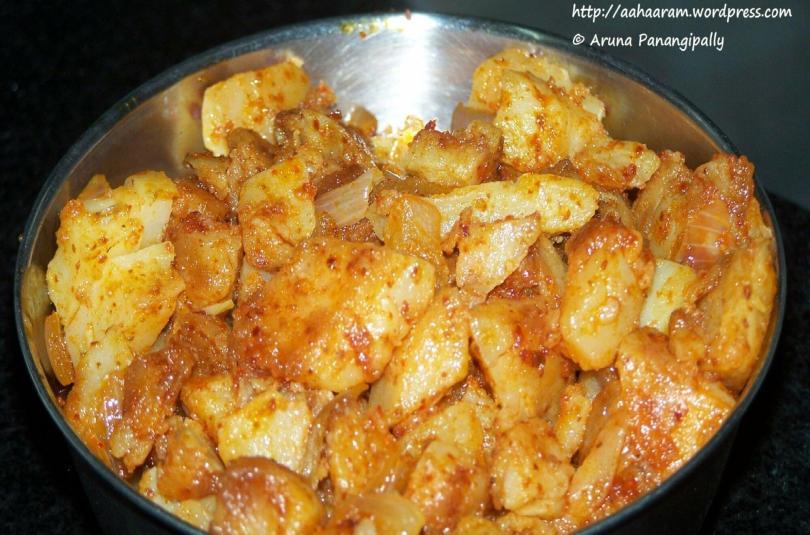 Bangala Dumpa Vepudu or Potato Fry