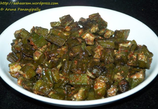 Bendakaya Vepudu or Okra Stir Fry or Bhindi Fry