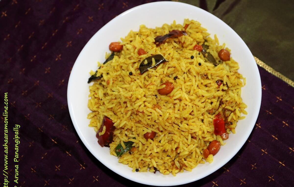 Pulihora   Puliogare   Puliodharai   Tamarind Rice from Andhra Pradesh