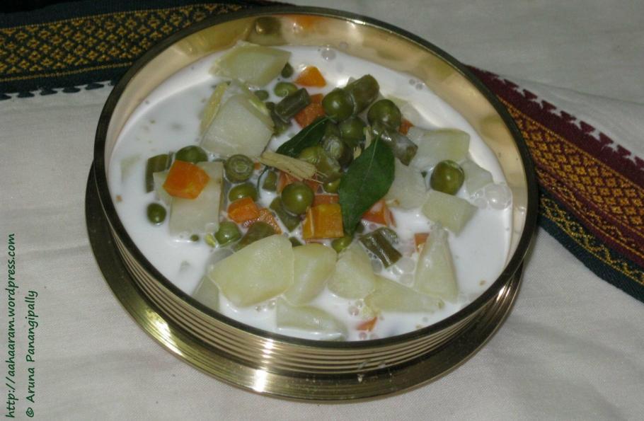 Kerala Style Stew or Vegetables in Coconut Milk