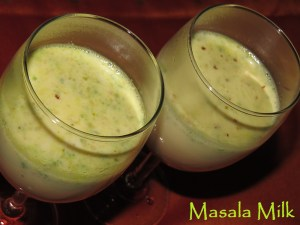 Masala Milk or Masala Doodh
