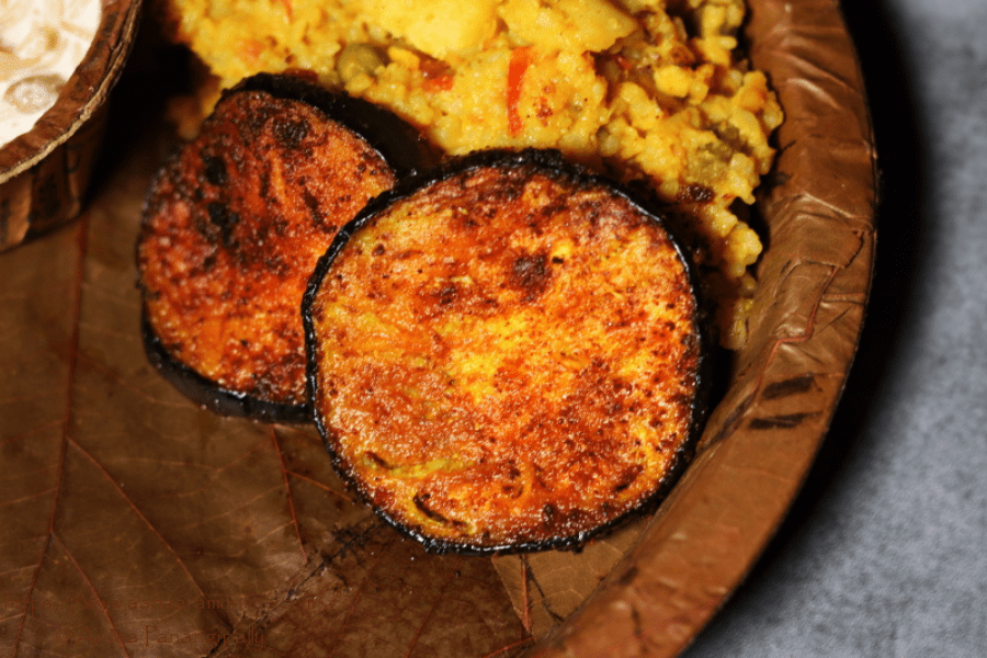 Begun Bhaja | Bengali Pan-fried Eggplant