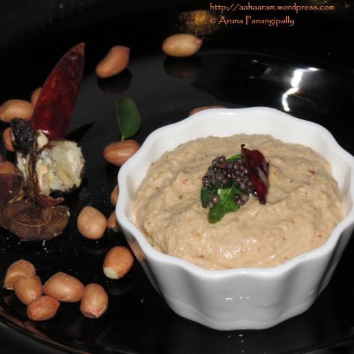 Verusenaga Pachadi-Andhra-Peanut Chutney-Groundnut-Chutney