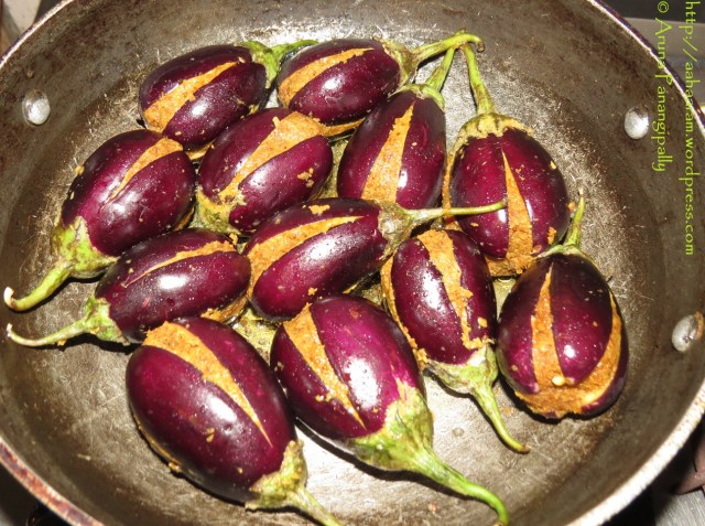 The Baby Brinjals in the Kadai