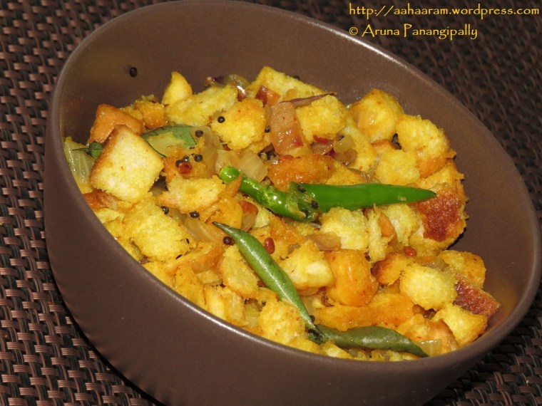Bread Upma or Bread Upakari