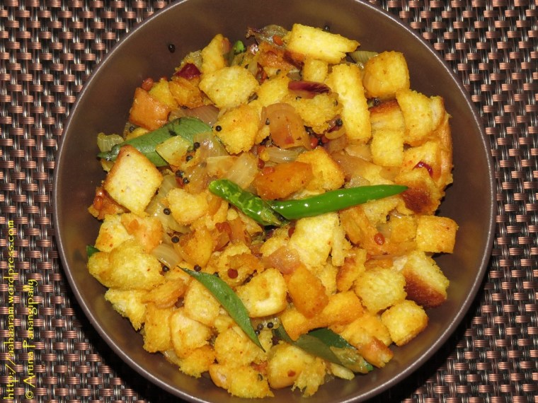 Bread Upma or Bread Upkari