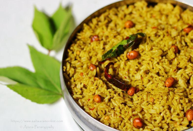 Gongura Pulihora | Gongura Annam | Andhra Roselle Leaves Rice