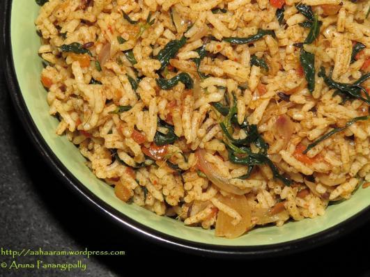 Methi Tamatar Biryani or Fenugreek and Tomato Spiced Rice