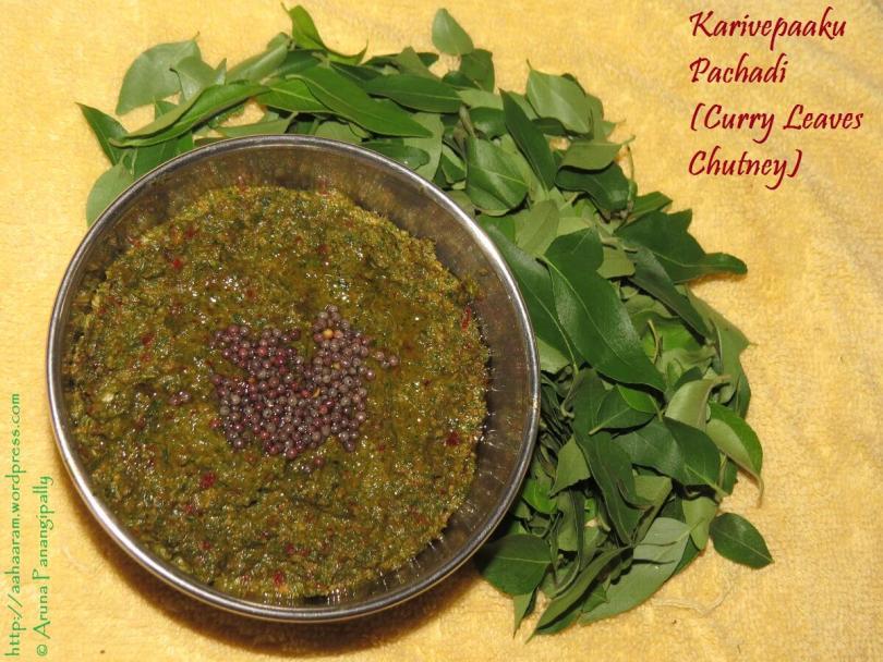 Karivepaku Pachadi - Curry Leaves Chutney