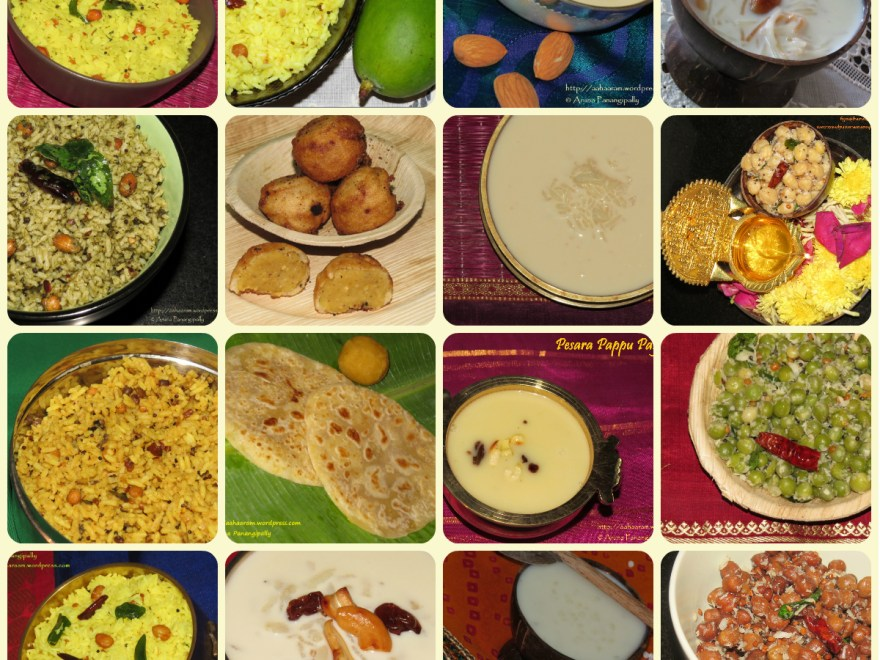 Recipes from Andhra Pradesh for Varalakshmi Vratam