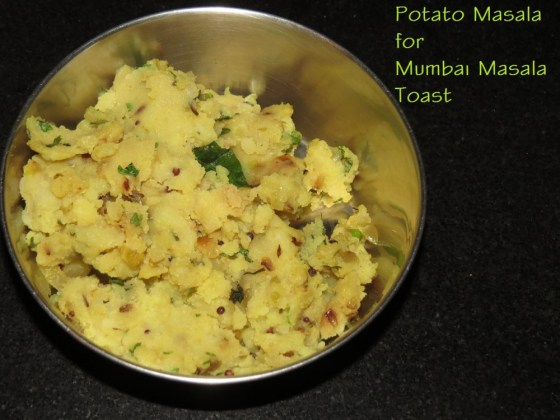 Potato Masala for Masala Toast