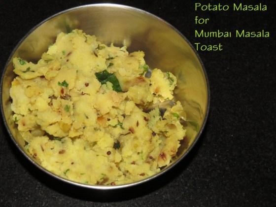 Potato Masala for Masala Toast