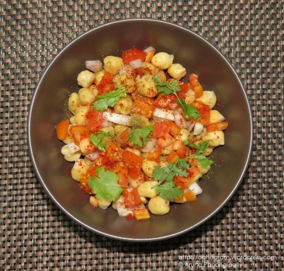 Chickpea Salad - No Oil, Low Calorie, High Fiber Diet Recipe
