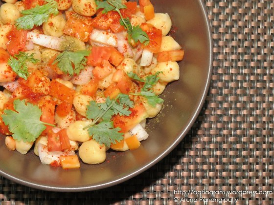 Chickpea Salad - No Oil, Low Calorie, High Fiber, High Protein Recipe