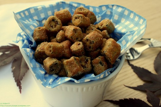 Okra fried in a batter of cornflour buttermilk, and Indian spices