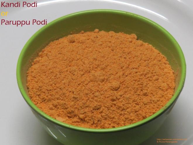 Kandi Podi or Paruppu Podi
