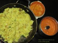 Chutney and Bhaji for Mysore Masala Dosa - Mumbai Street Food Style