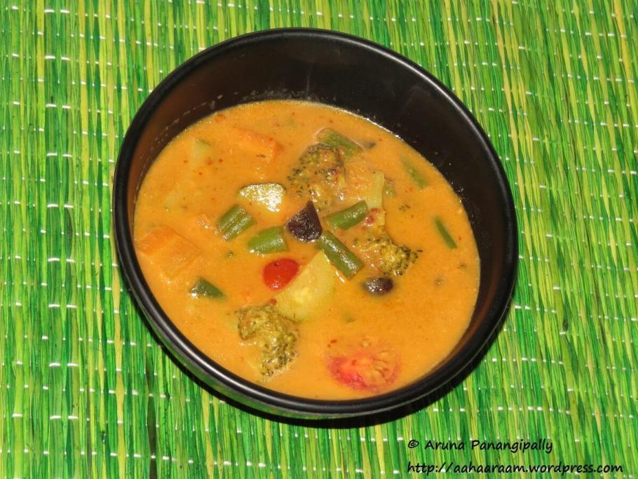 Kalio Tempe - Vegetables in Galangal and Coconut Milk Gravy - Bali - Indonesia - Recipe