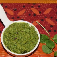 Pudina Pachadi or Mint Chutney for Rice - Andhra Style