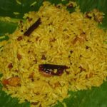 Pulihora or Puliyodarai or Tamarind Rice
