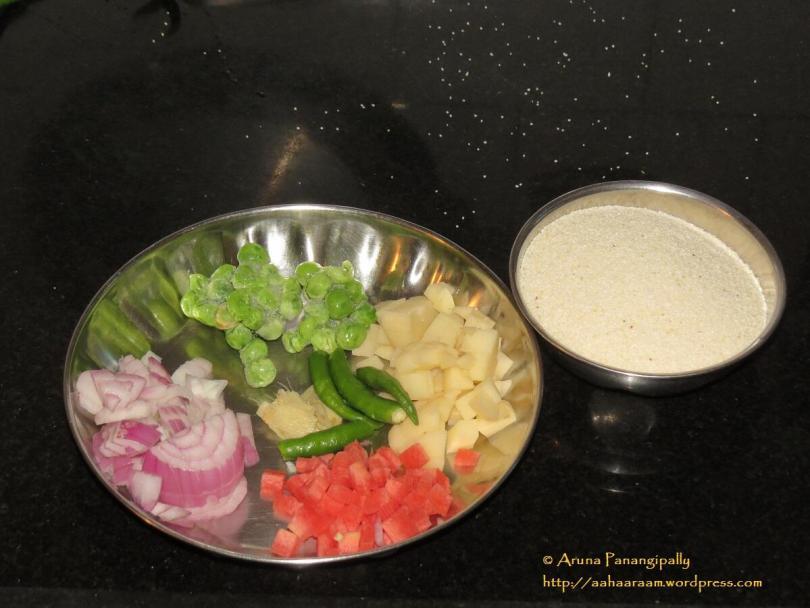 Vegetable Upma - The Ingredients