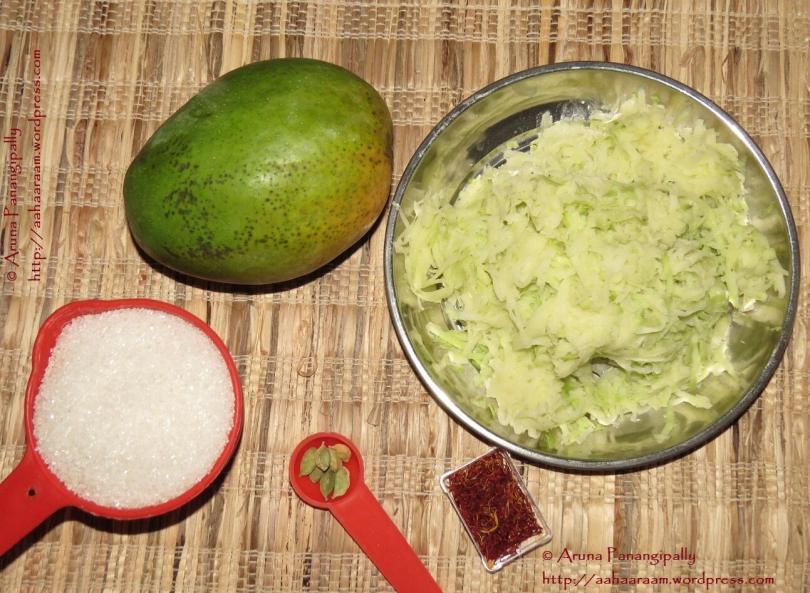 Kairi Murabba or Keri No Murabbo - Ingredients