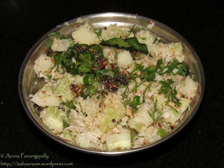 Khamang Kakdi - Cucumber Salad from Maharashtra