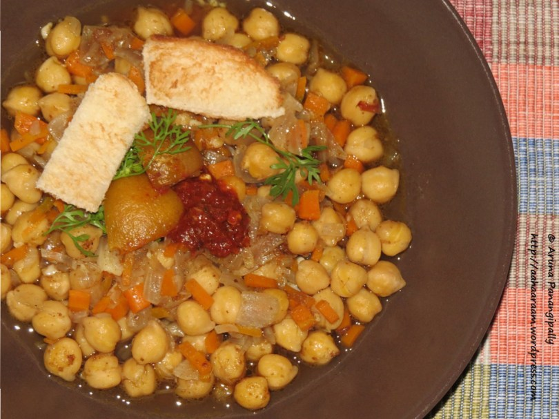 Lablabi or Leblebi - Chickpea Soup from Tunisia