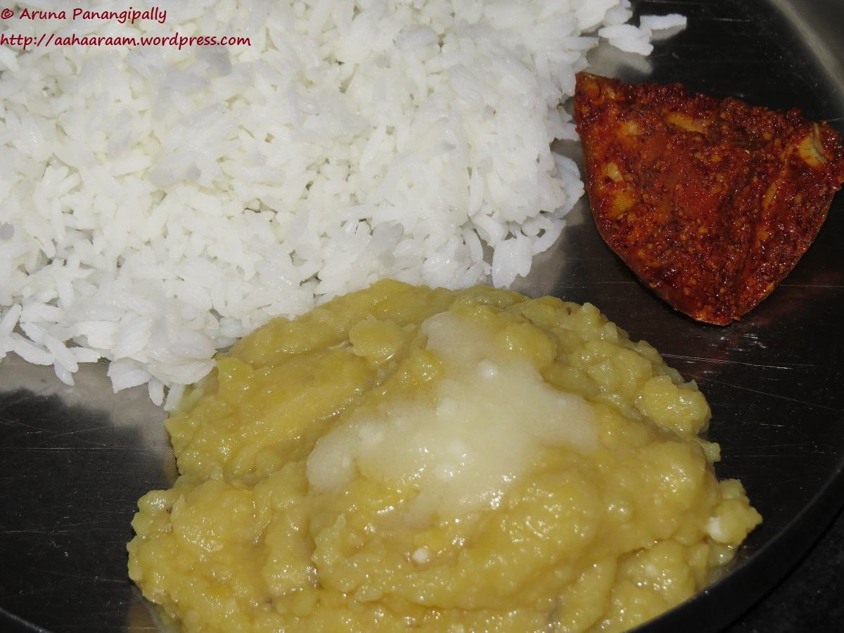 Mudda Pappu   Andhra Style Plain Dal