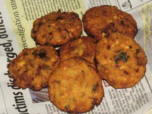 Masala Vada, Paruppu Vada, Chana Dal Vada or Senaga Pappu Garelu