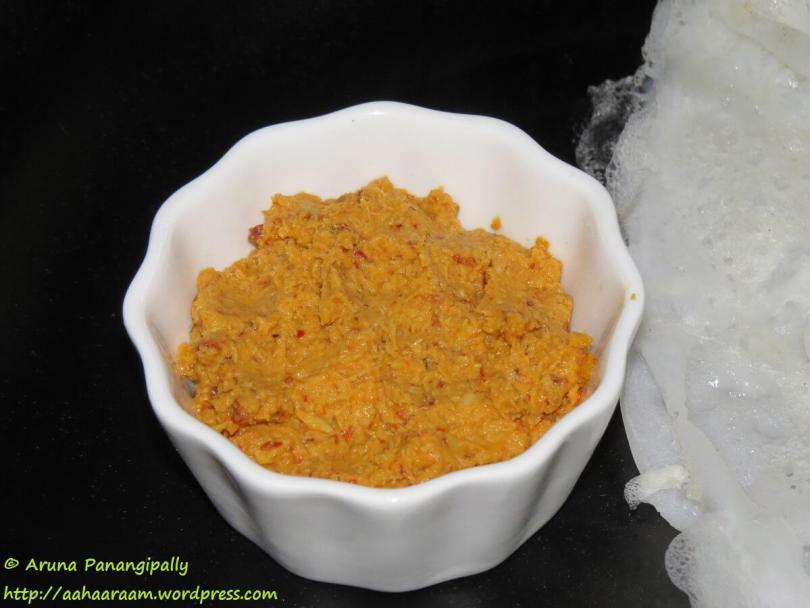 Coconut Garlic Chutney for Idli, Dosa, Mysore Sada Dosa or Mysore Masala Dosa