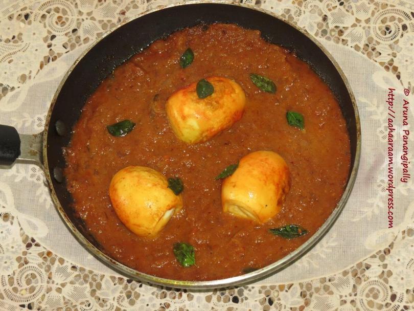 Kodi Guddu Pulusu - Egg Curry With Tamarind from Andhra Pradesh