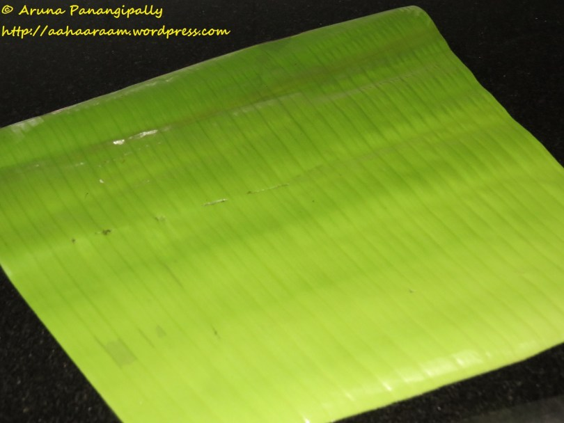 Making Ada - Oil the Banana Leaf