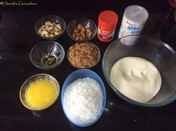 Ingredients for Goan Baath Cake
