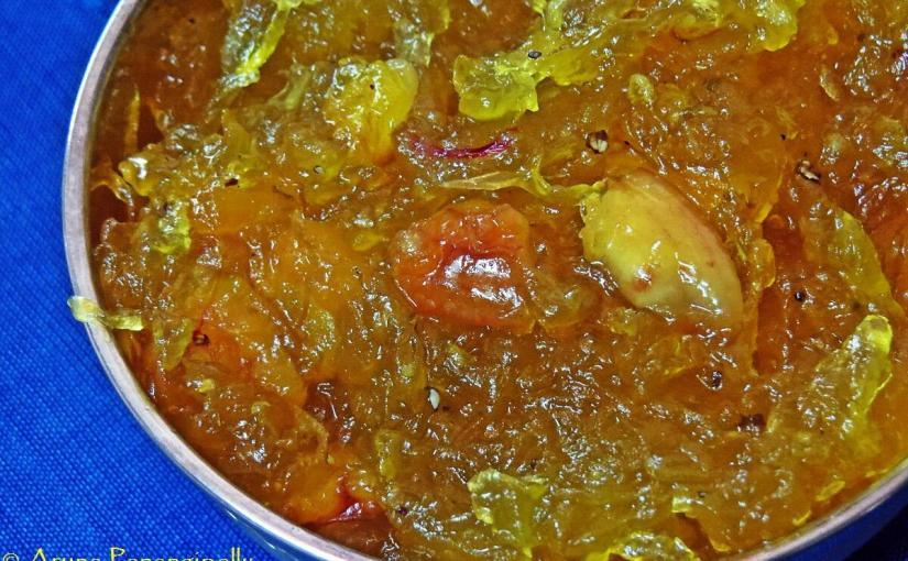 Kashi Halwa (Halwa Made with Poosinikai, Boodida Gummidikaya, Ash Gourd, or White Pumpkin)