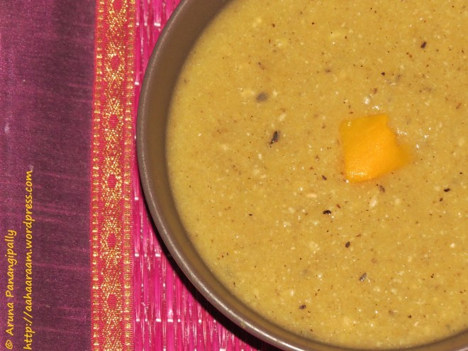 Pumpkin and Black Eyed Peas Soup