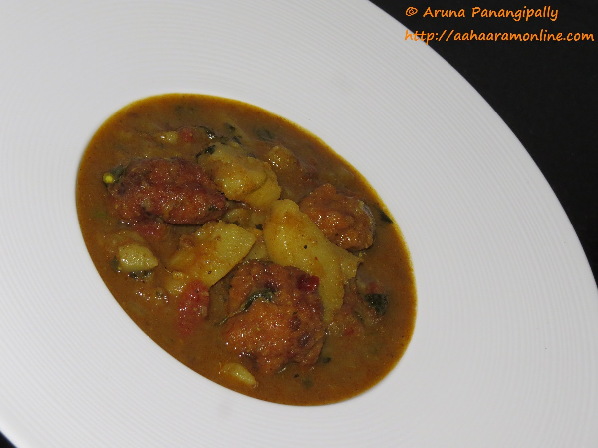 Punjabi aloo wadiyan h ram for Amritsari cuisine