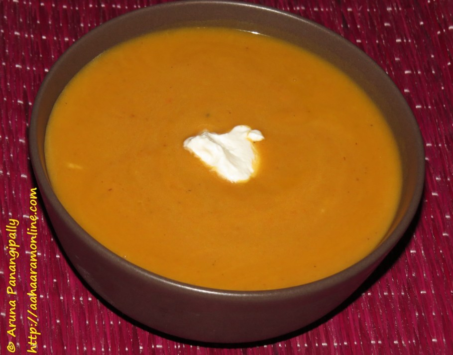 Roasted Carrot Soup - 1