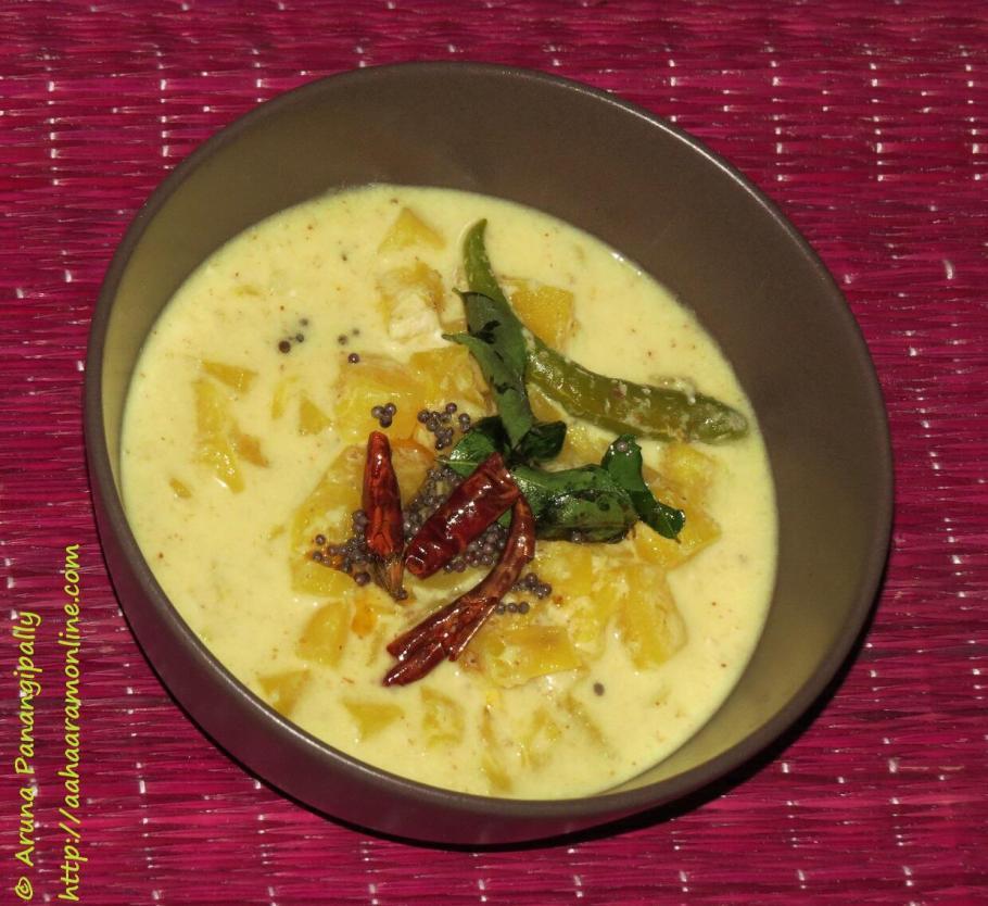 Pineapple Kichadi or Pineapple Pachadi - Onam Sadya