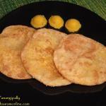 Sojjappalu or Sajjappa - Kesari Stuffed Puris