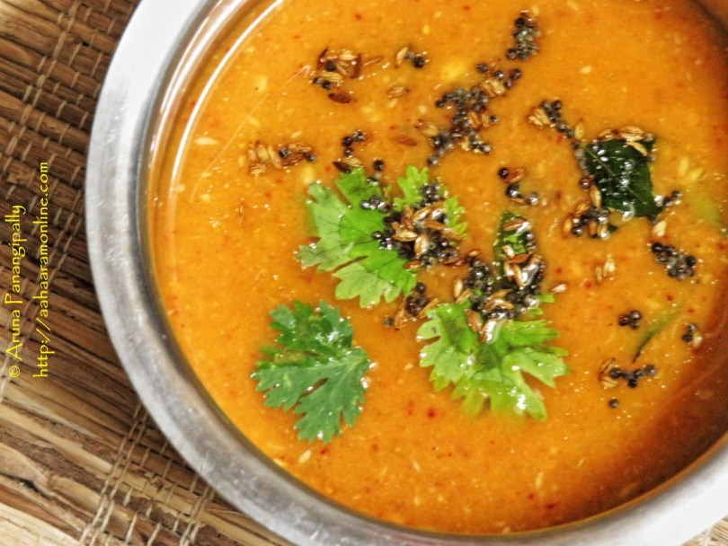 Holige Saaru or Obattu Saaru is a rasam made with the Puran used to stuff Puran Poli